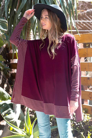 oversized cape top merlot