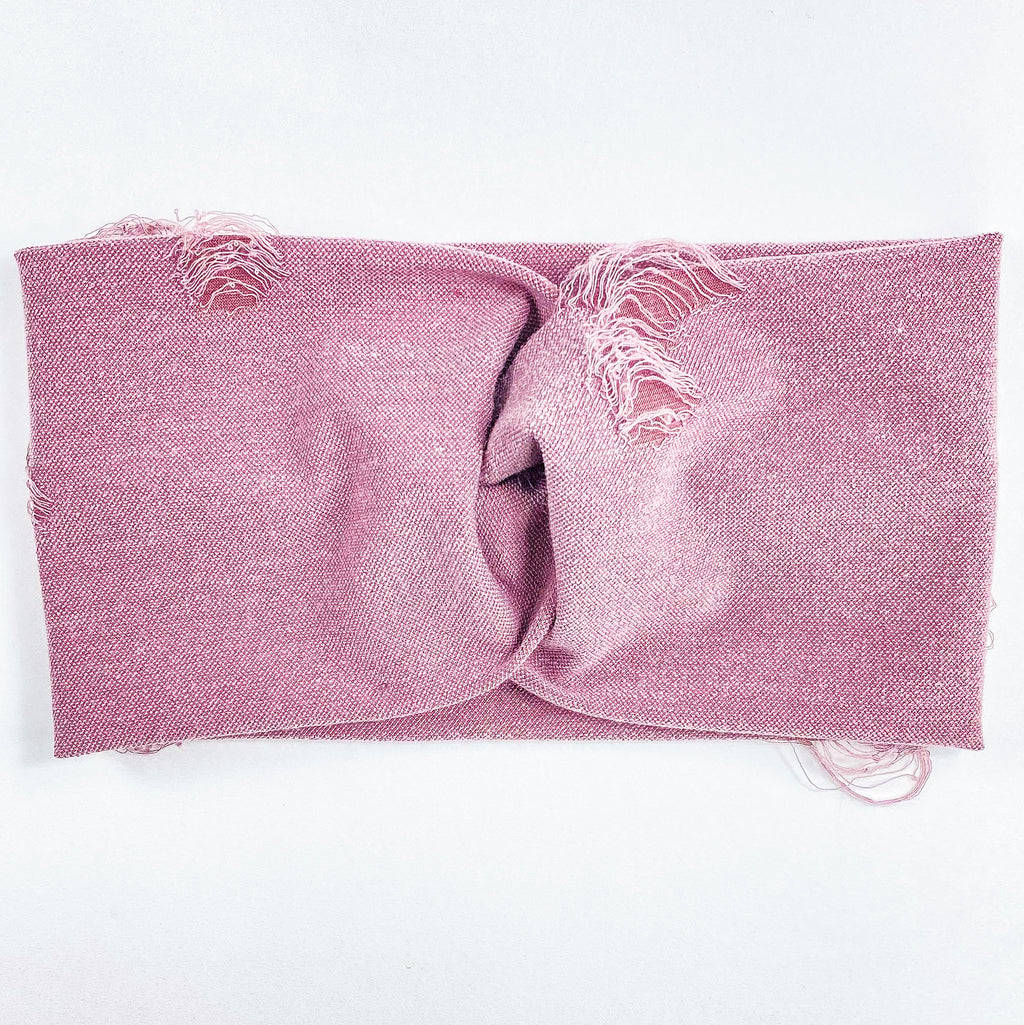 Mauve Distressed Headband