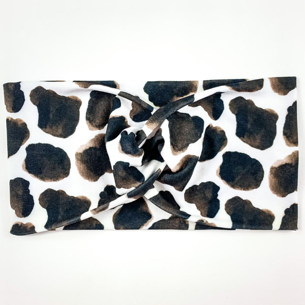 Black & Brown Spotted Headband