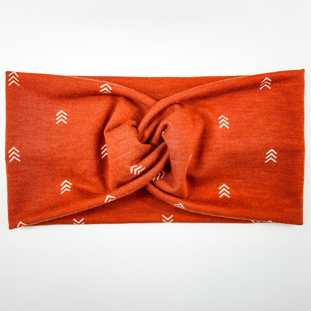 Orange Arrows Headband