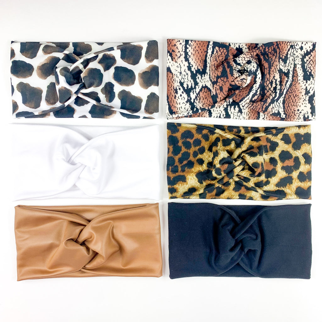 Neutrals + Animal Print Headband Set = FREE SHIPPING
