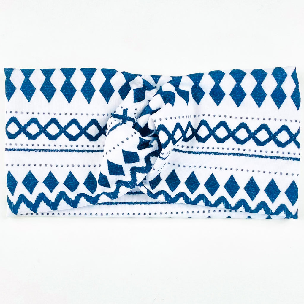Black & White Aztec Headband