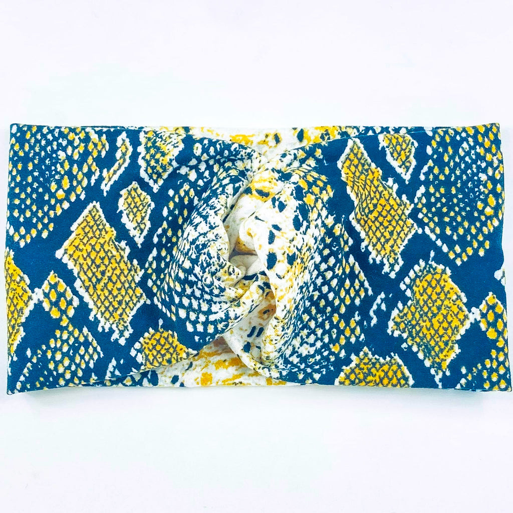 Yellow Snakeskin Headband