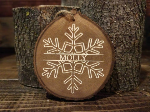 Snowflake With Name Ornament