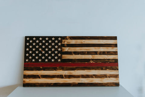 Firefighter's (Thin Red Line) Flag