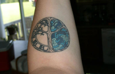 Intergalactic Ink: Time-Peace Tattoos and Mindfulness Quotes