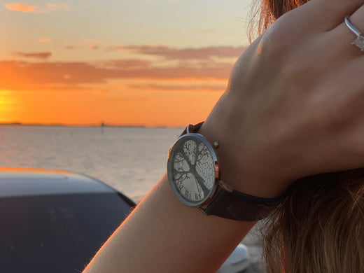 Observing the sunset with Time-Peace