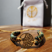 African Turquoise Tree Of Life Bracelet - Time-Peace