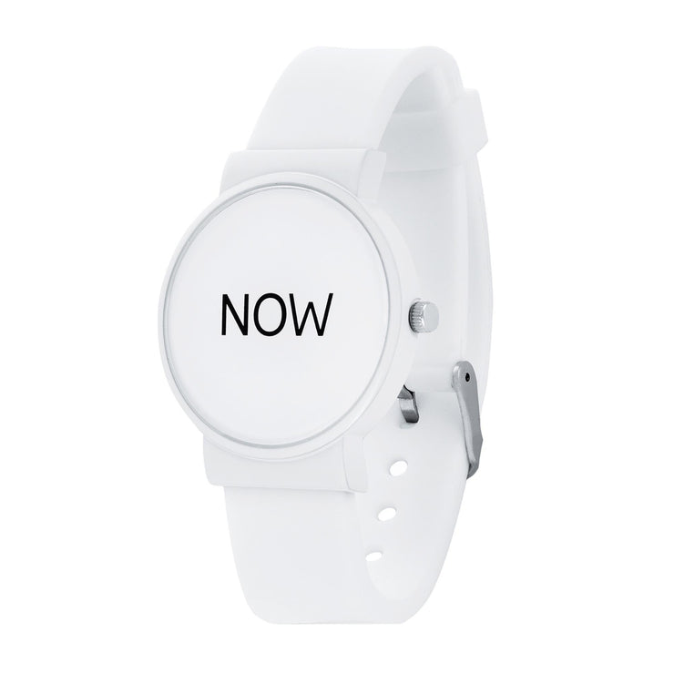 "Now ""Watch"" White - Time-Peace"