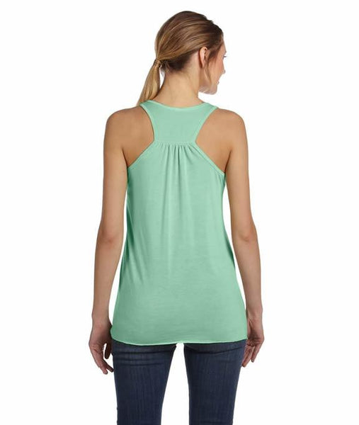 OK, BUT FIRST COFFEE Bella Flowy Racerback Tank Top - Campus Connection - Campus Connection - 2