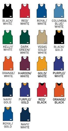 Vinyl-Letter Reversible Basketball Pinnie - Campus Connection - Campus Connection - 2