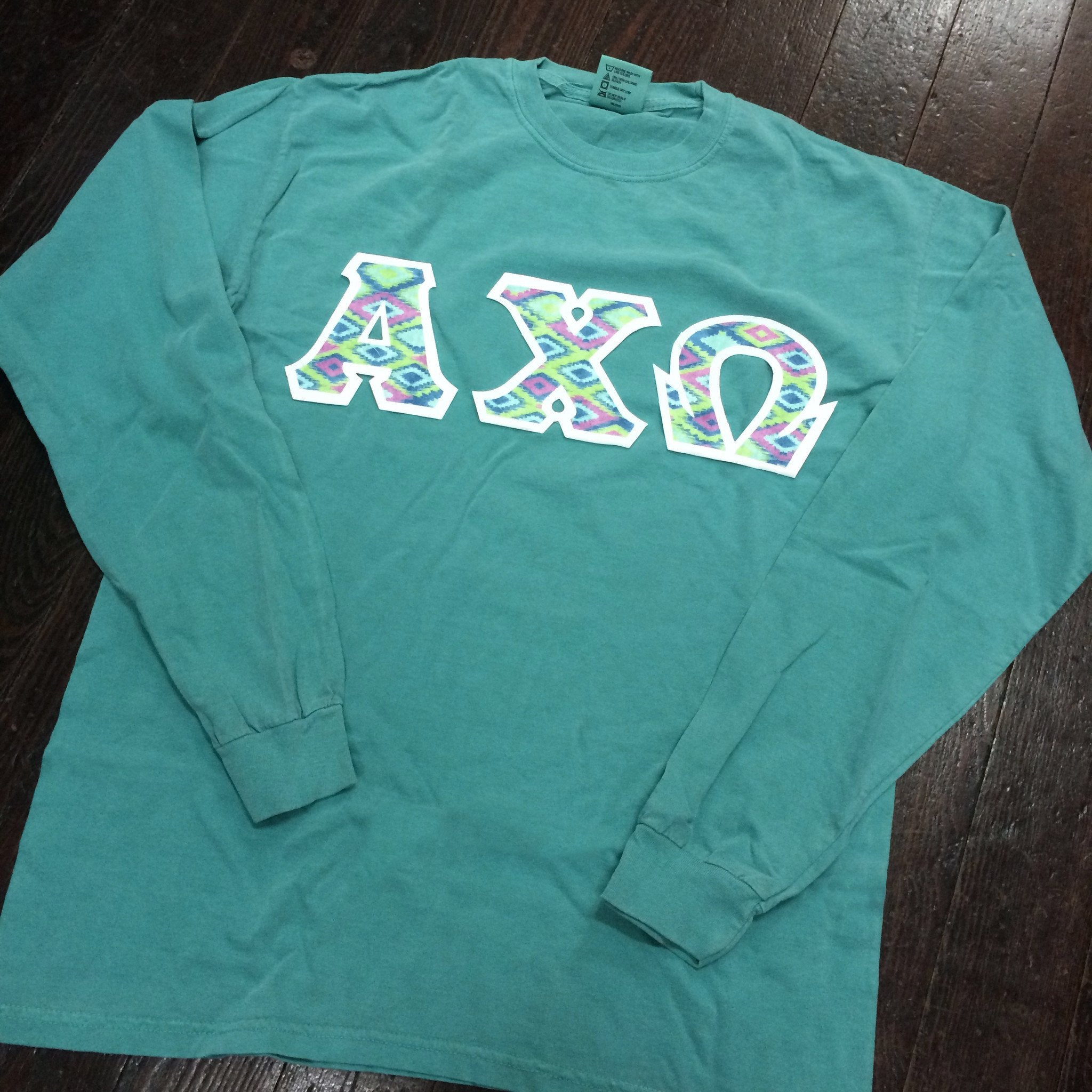 Sewn-Letter Comfort Colors Long Sleeve T-Shirt - Campus Connection - Campus Connection - 1