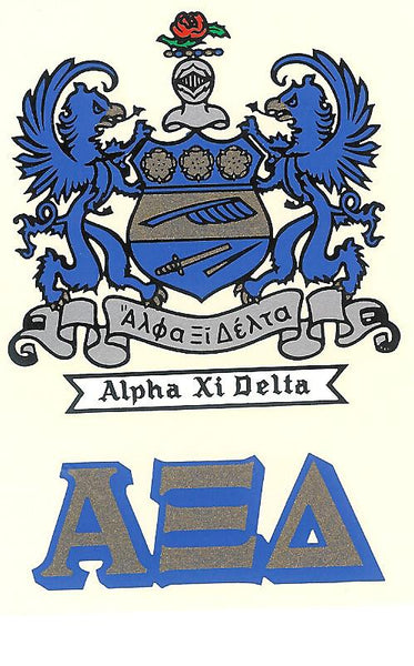 Sorority Crest Decal Sticker - Angelus Pacific - Campus Connection - 4
