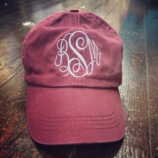 Monogrammed Hat - Campus Connection - Campus Connection - 1