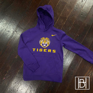 LSU Tigers Youth Nike Hooded Sweatshirt