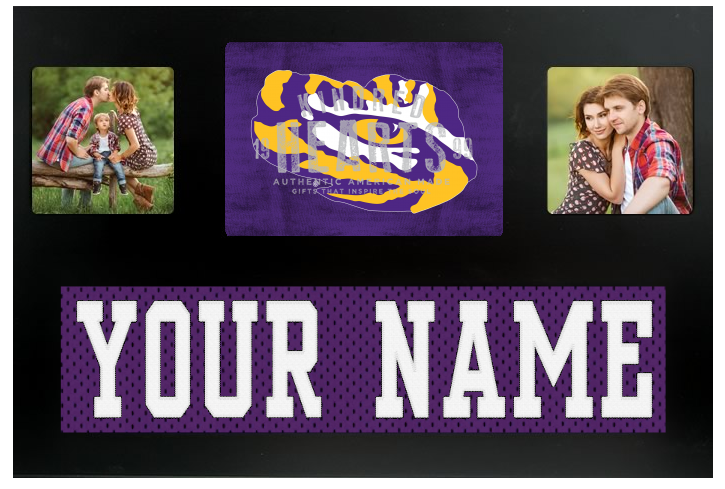 LSU Tigers  Jersey Nameplate Custom Picture Frame
