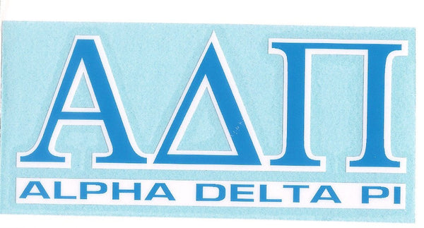 Sorority Letter Decal Sticker - Angelus Pacific - Campus Connection - 2