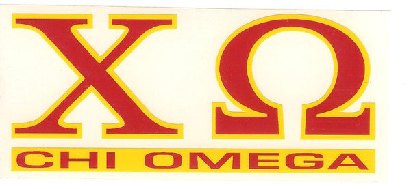 Sorority Letter Decal Sticker - Angelus Pacific - Campus Connection - 6