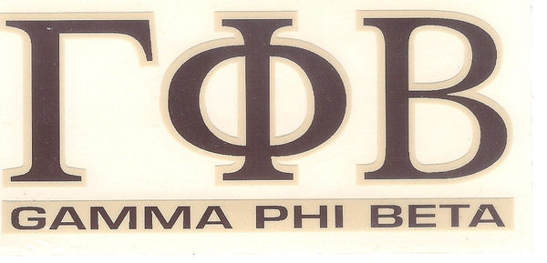 Sorority Letter Decal Sticker - Angelus Pacific - Campus Connection - 8