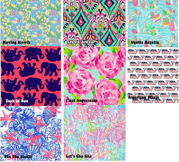 Custom Lilly Pulitzer Monogram State Decal Sticker - Campus Connection - Campus Connection - 2