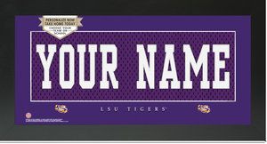 LSU Tigers Jersey Nameplate Custom Framed Sign