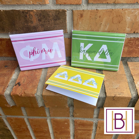Sorority Foldover Notecards