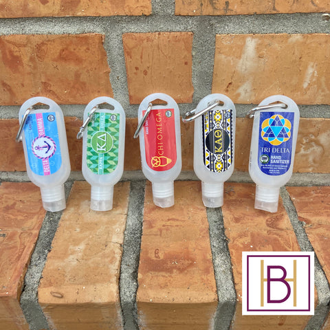 Sorority Hand Sanitizer Keychain