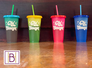 Sorority Color Changing Cups