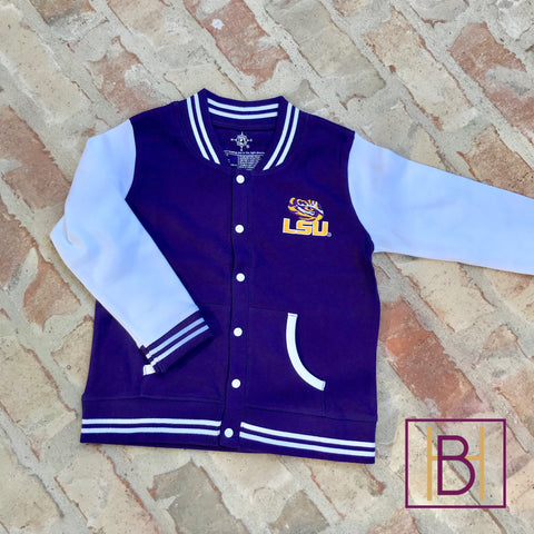 LSU Tigers Toddler/Youth Varsity Jacket