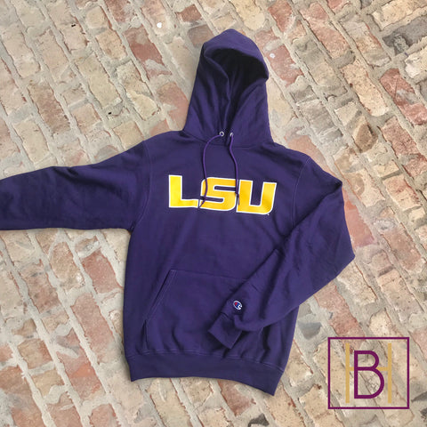 LSU Champion Hooded Sweatshirt