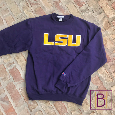 LSU Champion Crewneck Sweatshirt