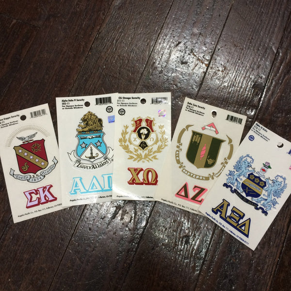 Sorority Crest Decal Sticker - Angelus Pacific - Campus Connection - 1