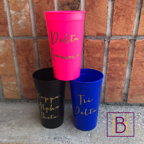 Sorority Stadium Cup Tumbler