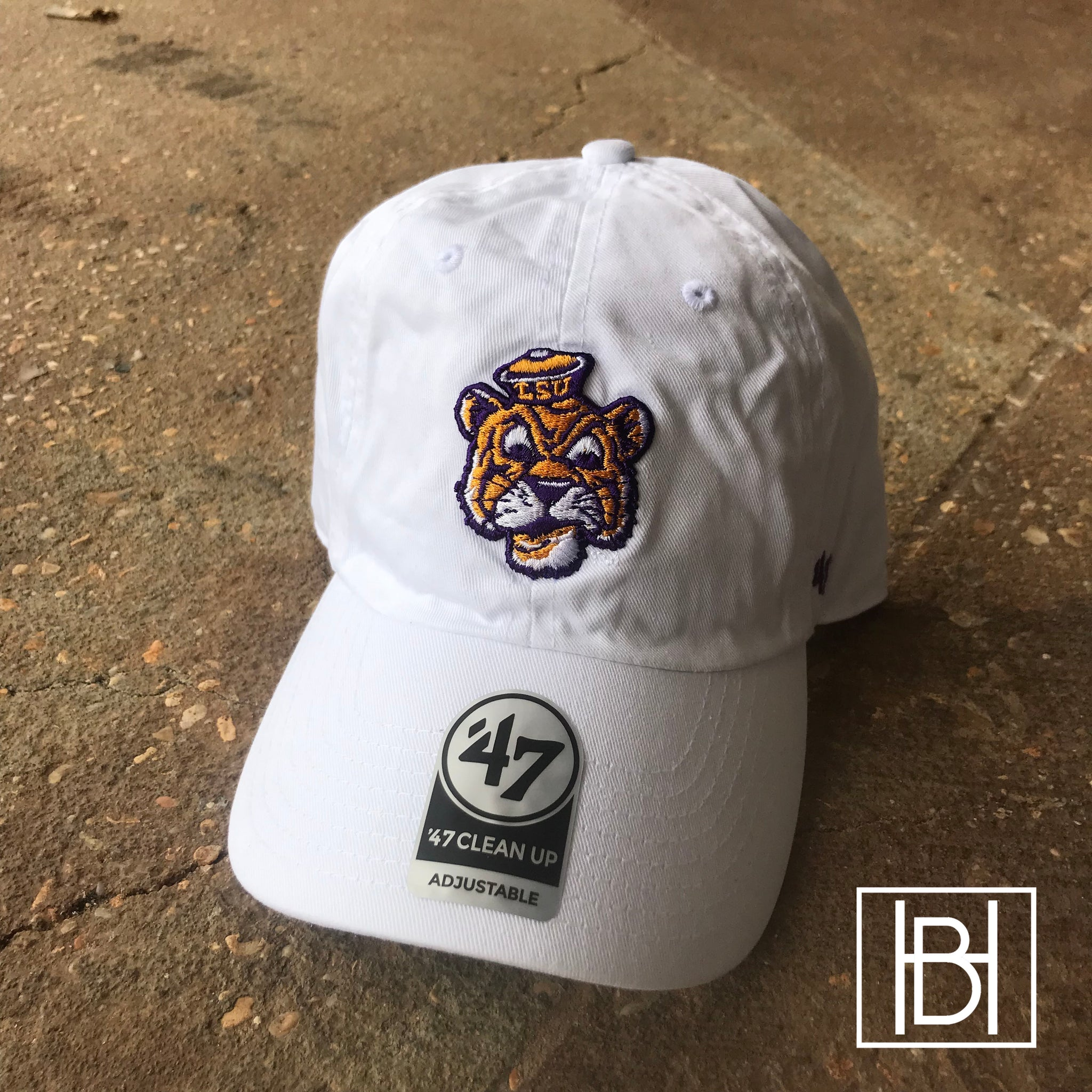 Beanie Mike LSU Hat - White