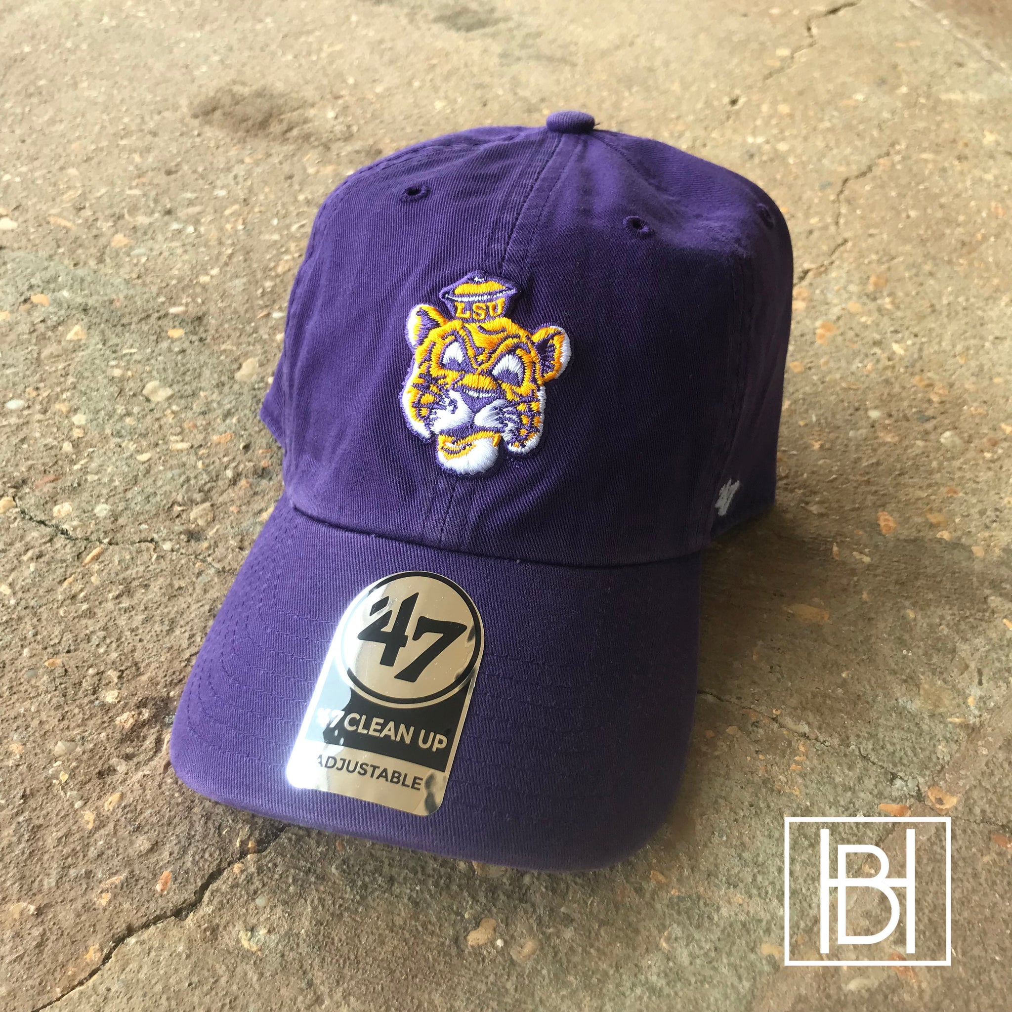 Beanie Mike LSU Hat - Purple