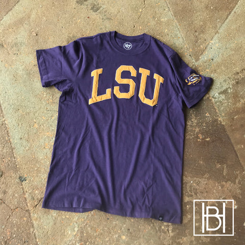 LSU Stitched Letter Fieldhouse Tee