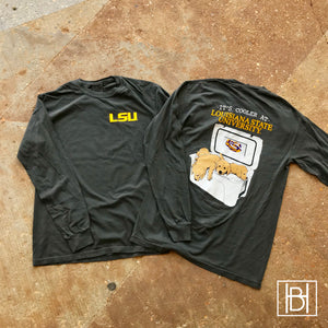 LSU Puppy Cooler Comfort Colors Long Sleeve Shirt