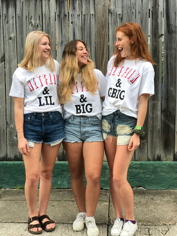 Netflix and Chill Big/Little/GBig/GGBig Sorority Comfort Colors T-Shirts