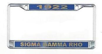 License Plate Frame with Year - Craftique - Campus Connection - 3