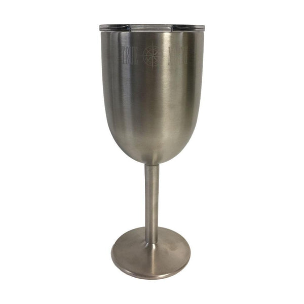 True North 10 oz. Stainless Steel Wine Glass - True North - Campus Connection - 1