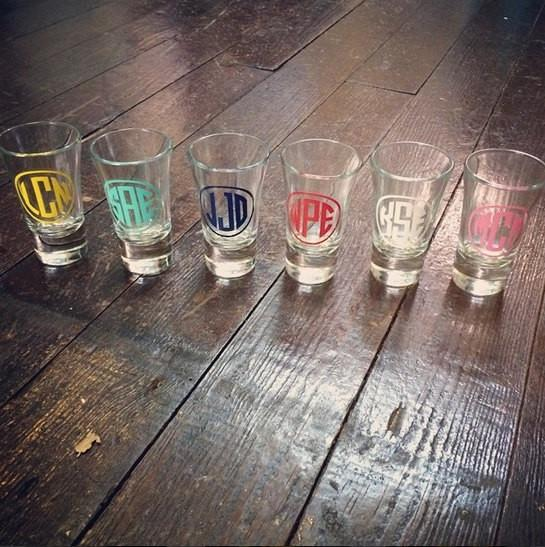 Monogrammed Shot Glass - Campus Connection - Campus Connection - 1