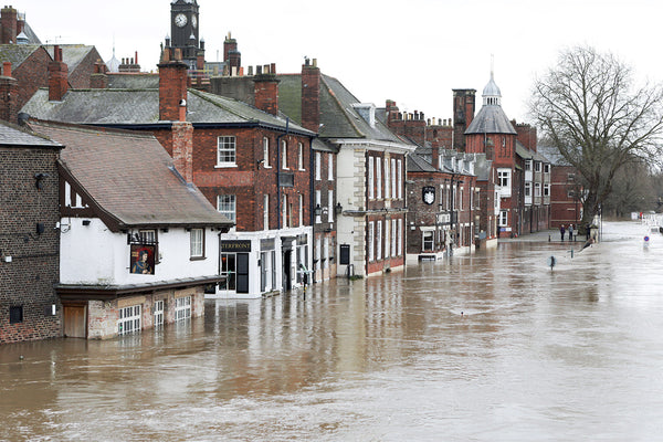 Flooding in Ironbridge, UK