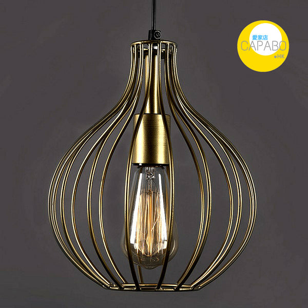Capabo Golden Vintage Edison Filament Hanging Crown