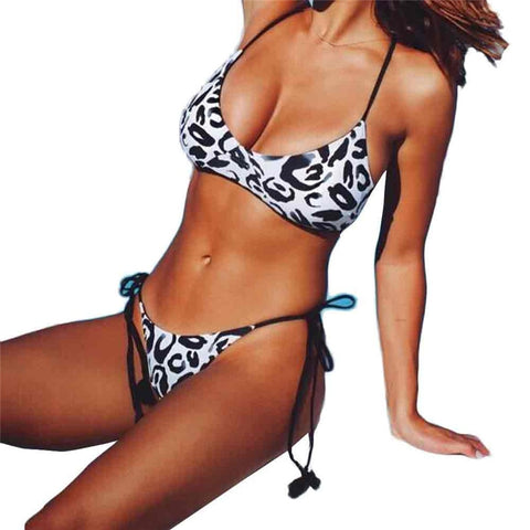 Sexy Women Leopard Bikini Set Swimwear