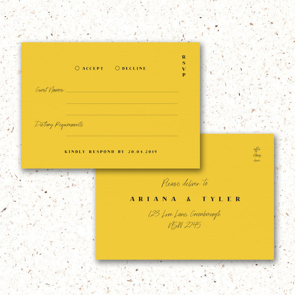 RSVP Card - The Little Details Design Boutique