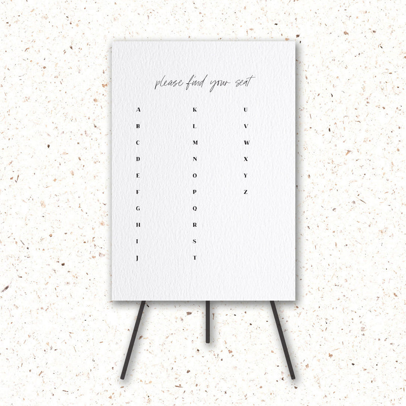 Seating Chart - The Little Details Design Boutique