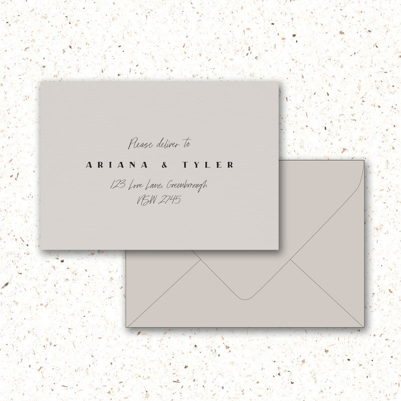 Envelope Printing - The Little Details Design Boutique