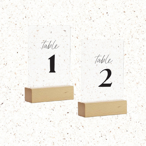 Table Numbers - The Little Details Design Boutique