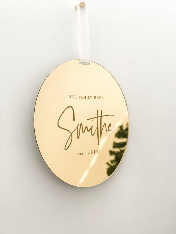 Personalised Wall Disc - The Little Details Design Boutique