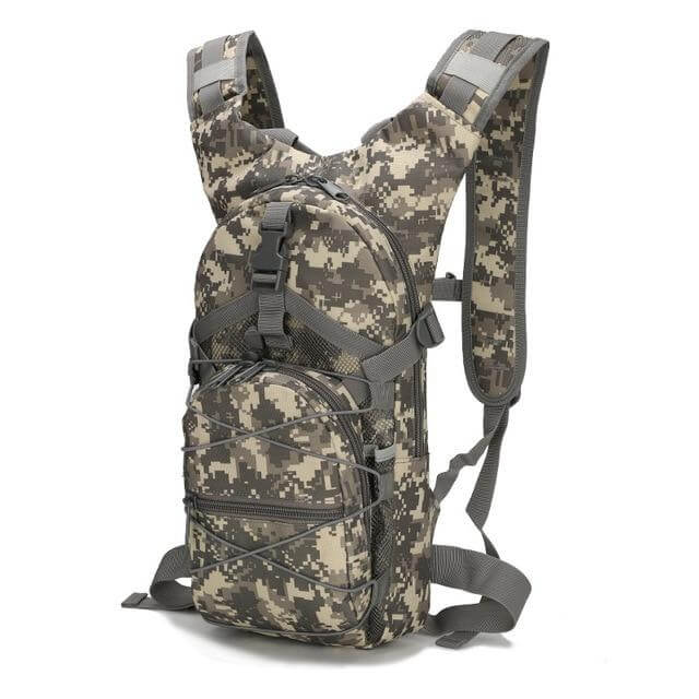 15 Liters Camouflage Adjustable Military Hiking Tactical Backpack